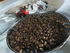 コーヒ焙煎体験
